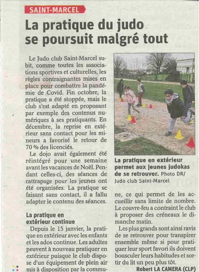 Image de l'actu 'Article JSL :  La pratique du JUDO se poursuit à Saint Marcel'